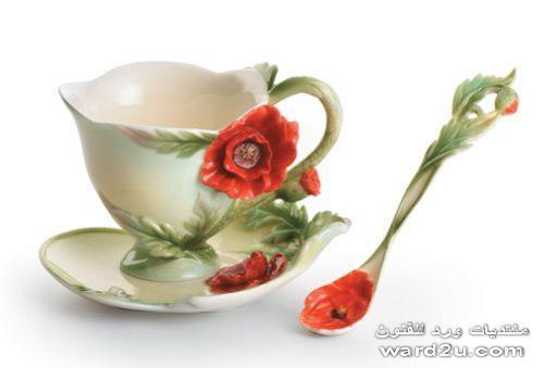 فناجين قهوه من الخزف اهداء خاص