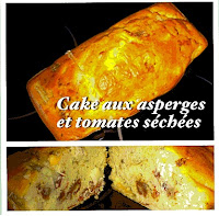 Cake aux asperges et tomates séchées