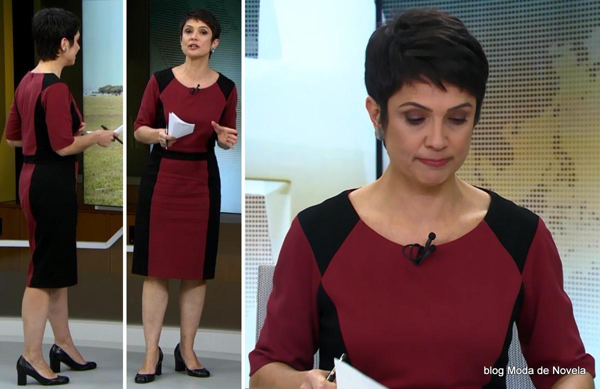 moda do programa Jornal Hoje - look da Sandra Annenberg dia 2 de junho