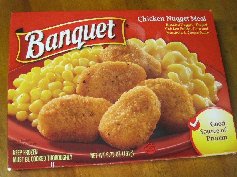 Banquet frozen meals are pretty much at the bottom of the frozen food hierarchy. Retailing at about $1 a pop (I saw it last week for 69 cents on sale) it's ...