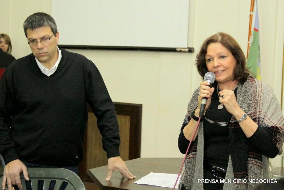 los secretarios de Gobierno y Desarrollo Social, Ana Asa y César Ciancaglini