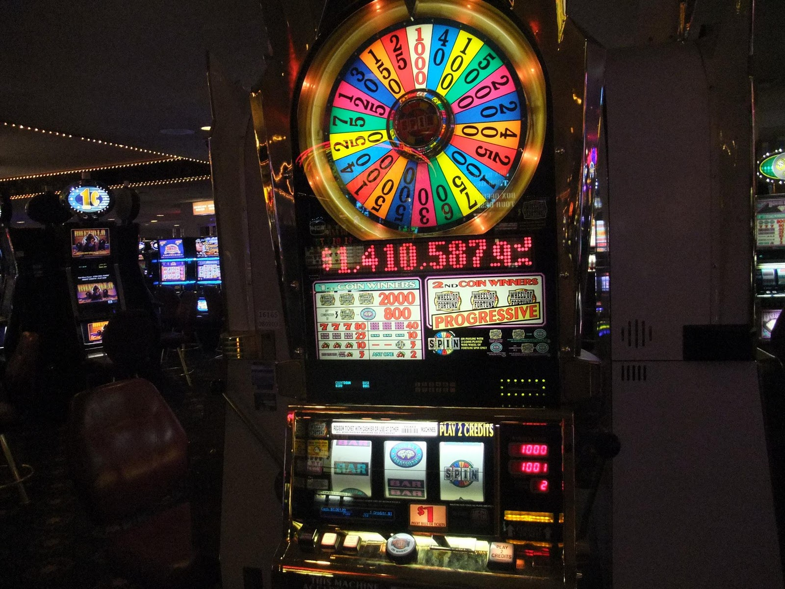 used slot machines wheel of fortune