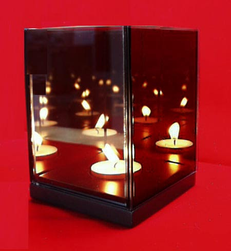 Magic Illusion Mirror Box Single Candle Infinity Light 1
