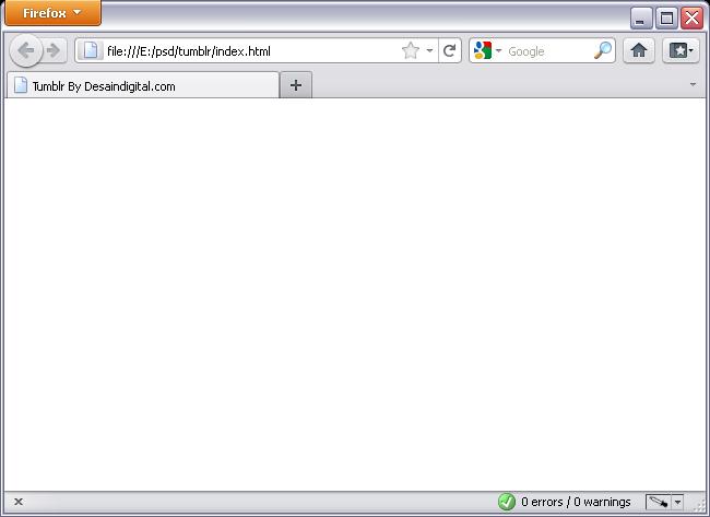 tampilan default pada firefox