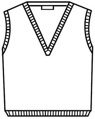Waistcoat, free coloring pages