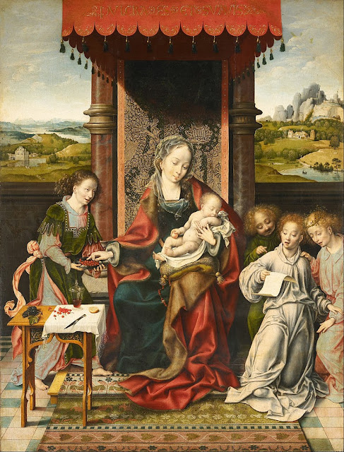 Joos van Cleve - Virgin and Child with Angels - Google Art Project