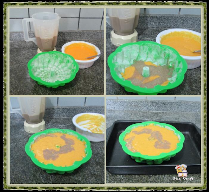 Bolo mesclado de cenoura 3