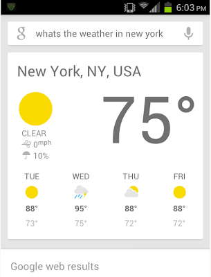 Google Now su Android 4.0