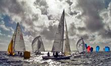 J/80 sailing around mark- off La Trinite, France