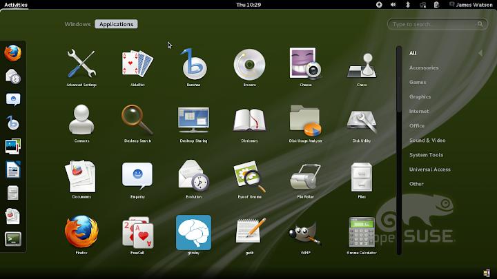 openSuSE 12.1 Gnome 3