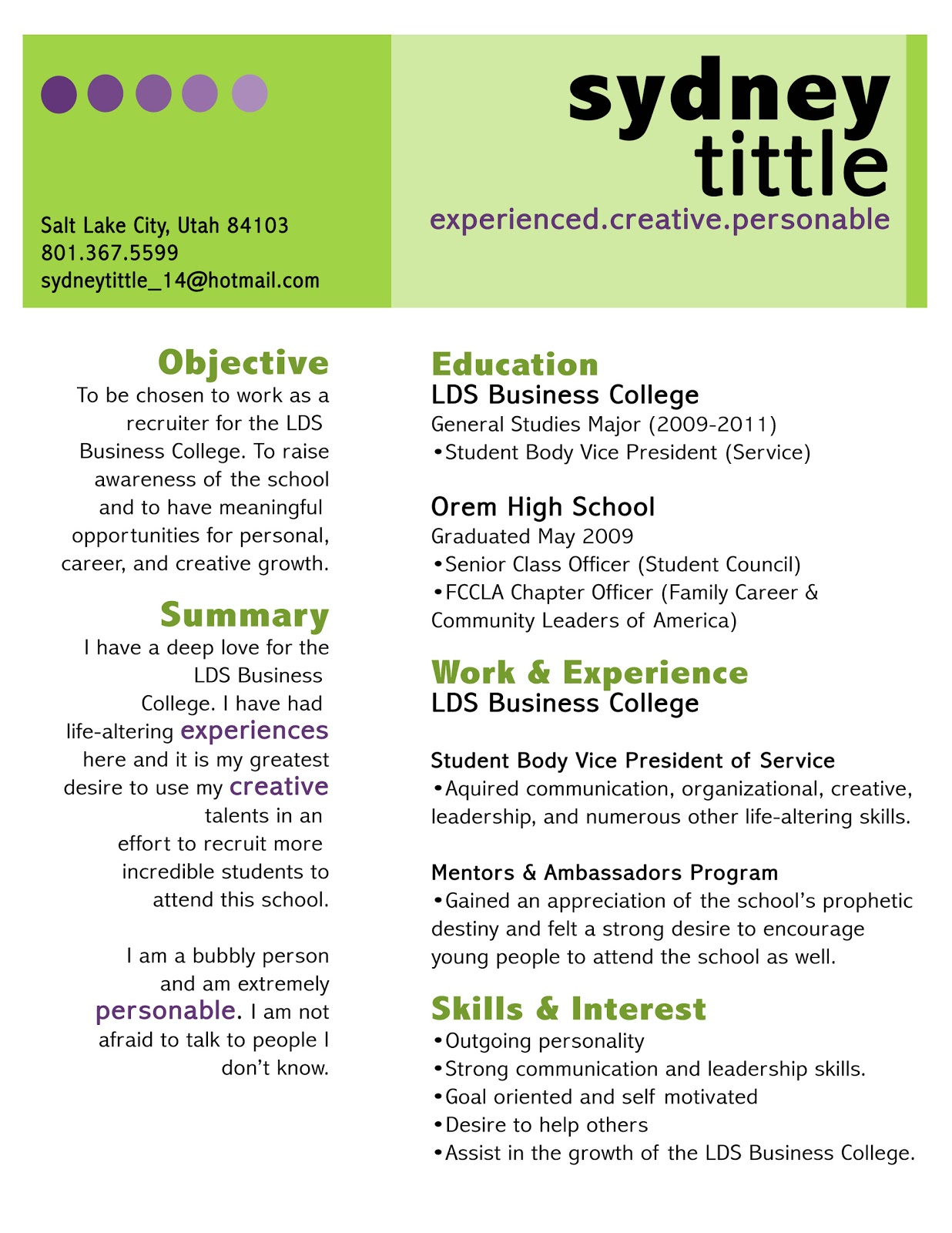 Lyla Mae & Lucy Lou Task 29 Create your own AWESOME RESUME