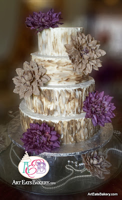 4 Tier Rustic Buttercream Wedding Cake
