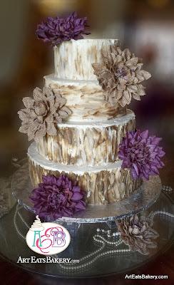 4 Tier Rustic Buttercream Wedding Cake