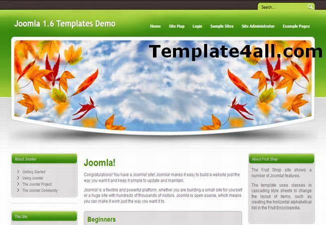 Leaves Automn Joomla 1.6 Template
