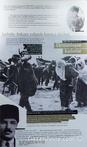 Kastamonu, Küre'deki Ecevit Hanı'nın tarihini anlatan panolar