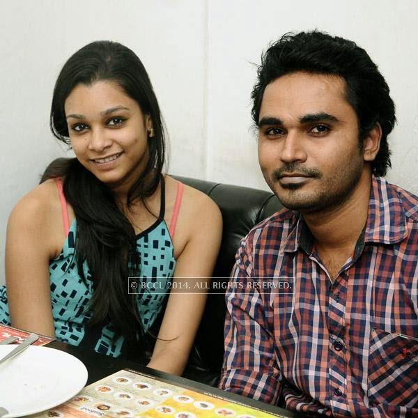 Shreya and Karthik during a Weekend party, held at Zara.