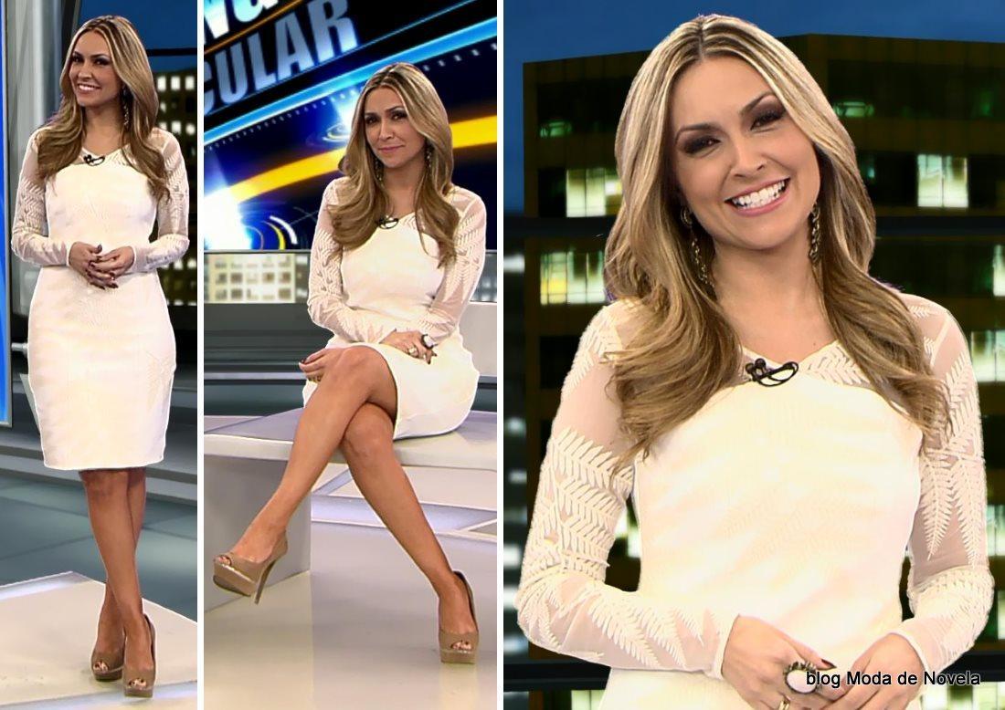 moda do programa Domingo Espetacular - look da Thalita Oliveira dia 20 de julho