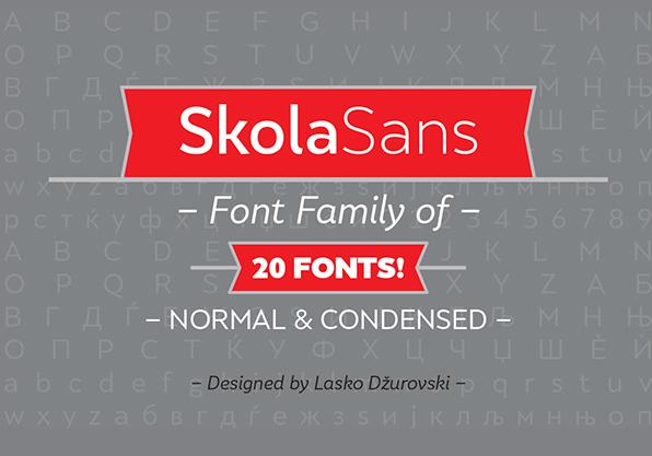 SkolaSans Free Fonts