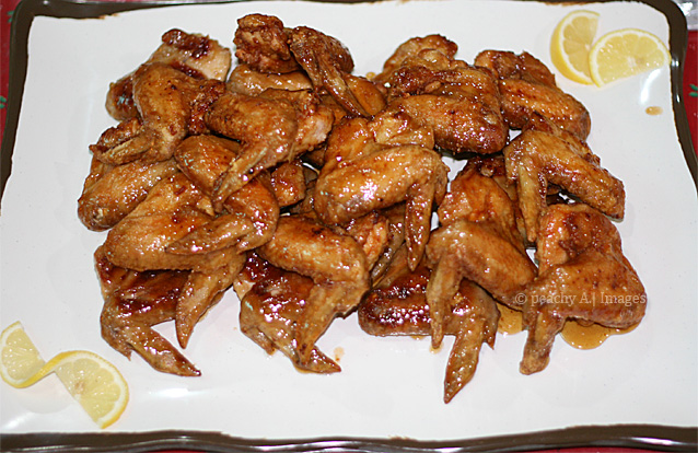 Honey-Lemon Glazed Chicken Wings
