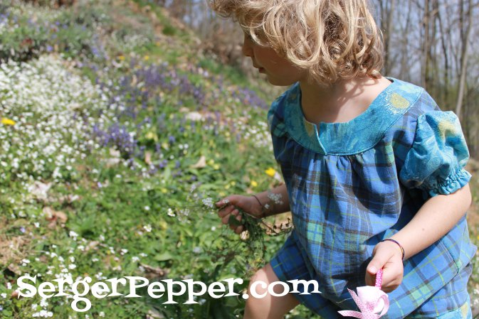 Serger Pepper - Shortie nightgown Blog Tour