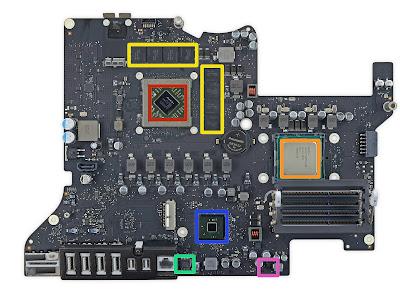 新型iMac 5K Retinaのロジックボード
