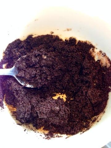 Home made coffee scrub