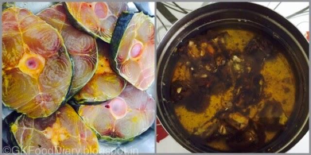 South Indian Fish Curry Recipe (Vanjaram Meen Kuzhambu) 2