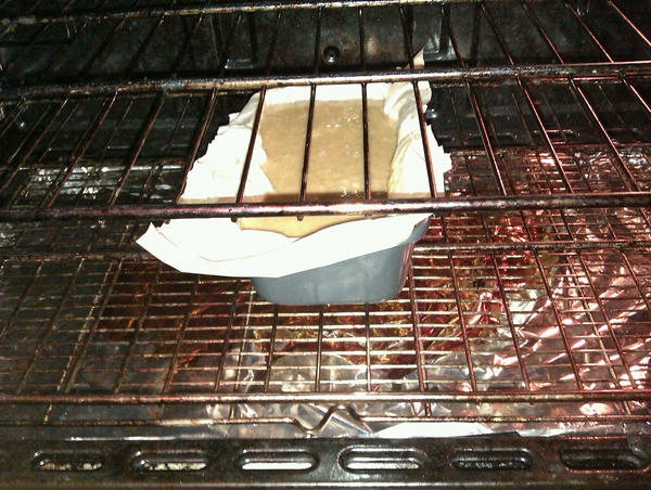 ginger cake in the oven not cooked