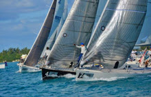 J/105s sailing off start at Bermuda Invitational