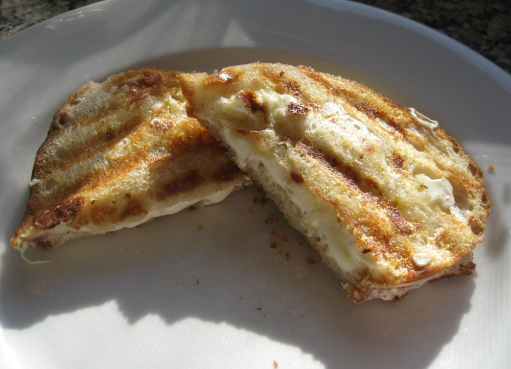 Any grilled cheese sandwich should have a crunchy exterior and hot, liquid like, cheese center!