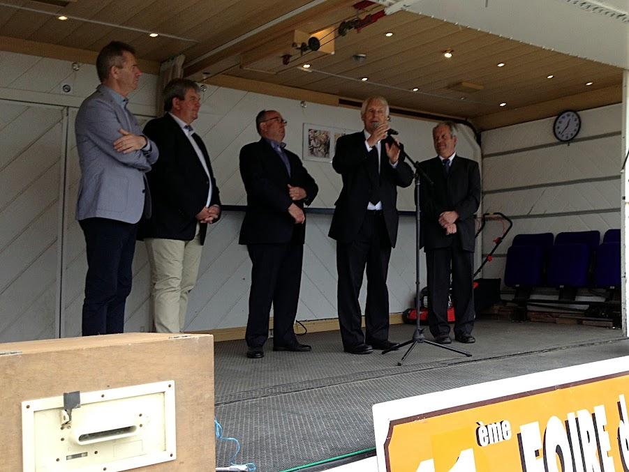 Inauguration de la 11e Foire de Lanvaux le 14 mai 2016 à Grand-Champ