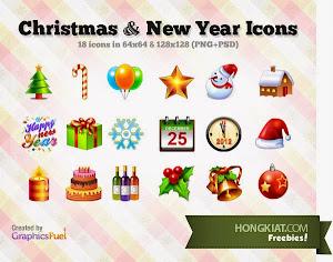 40 bộ sưu tập các icon, biểu tượng giáng sinh ! 40 Icon Sets for Your Design