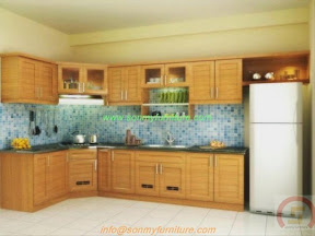 Tủ bếp gỗ tự nhiên BESM0104