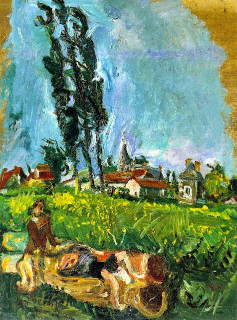 Chaim Soutine - Children Playing at Chimpigny