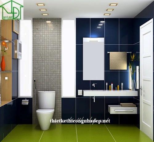 Thiết kế nội thất phòng tắm số 1