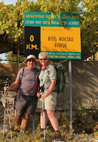 Sally & Geoff at end of Lycian Way