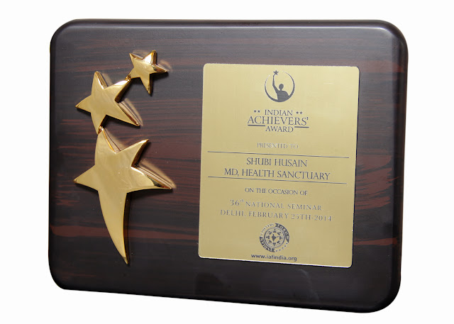 Shubi Husain awarded India Achievers Award 2014