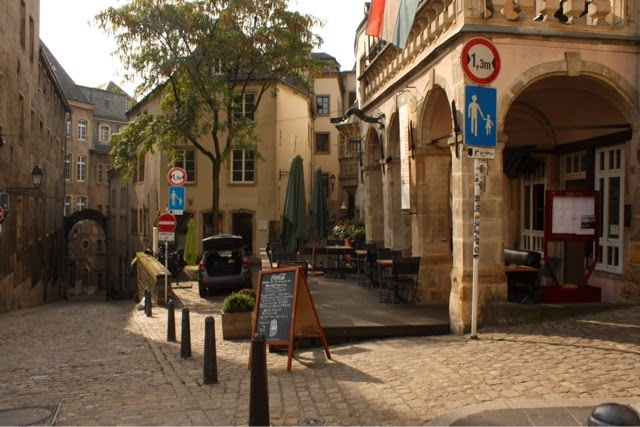 City street in Luxembourg
