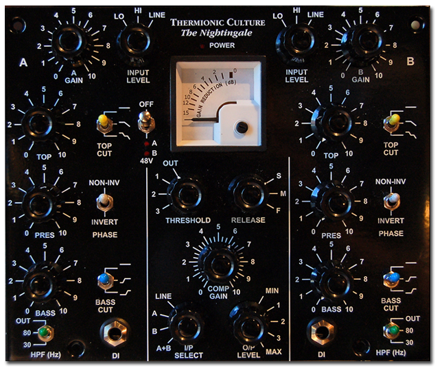 Thermionic Culture Nightingale csöves előfok/EQ és kompresszor