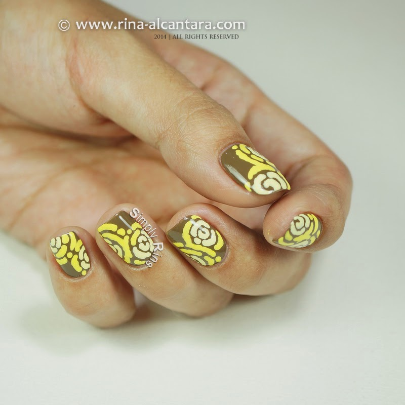 Merry Go Yellow Nail Art Design