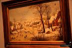 Brueghel, el joven. Paisaje nevado con trampa de pájaros. 1601