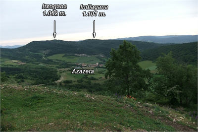 Indiagana e Itxogana desde la cresta norte de Arraialde