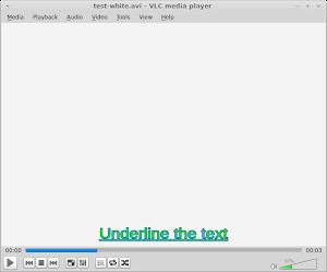 Underline 底線設定,以 1 為使用,0 為不使用