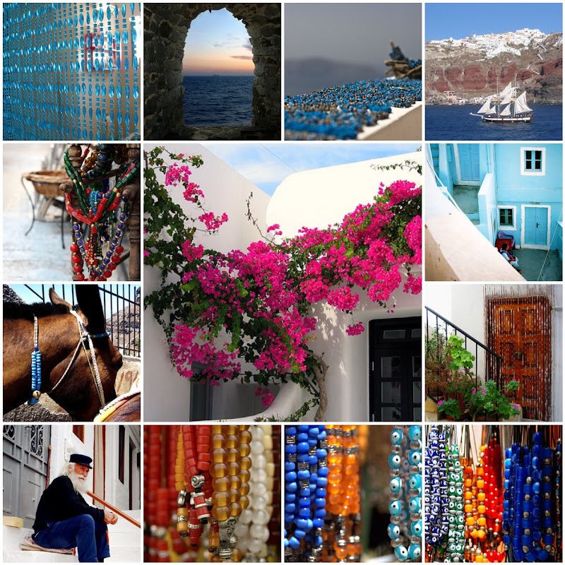 Beauty and Beads in Greece Photo Collage