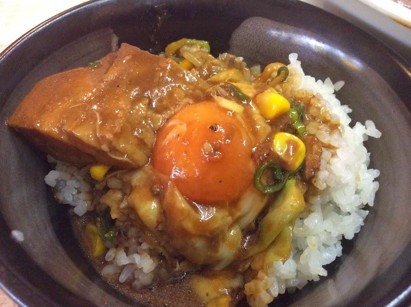 ご飯(チャーシュー、温泉玉子、スープがけ)