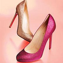 Sapatos Paris com glitter