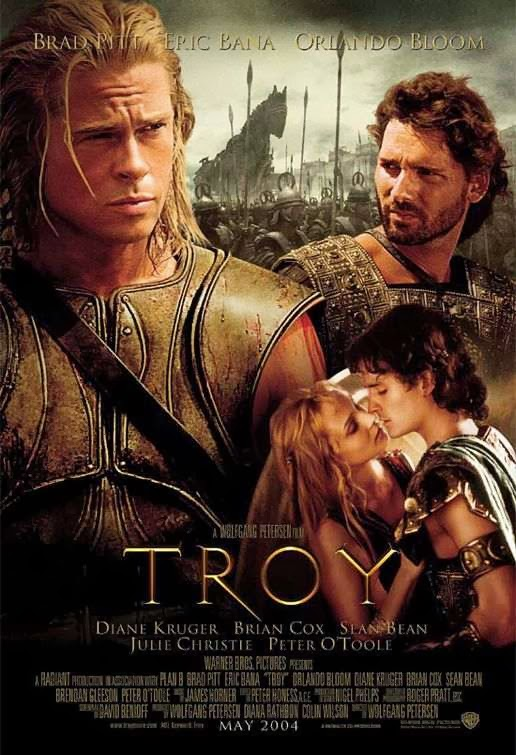 Poster Of Troy (2004) Full Movie Hindi Dubbed Free Download Watch Online At alldownloads4u.com