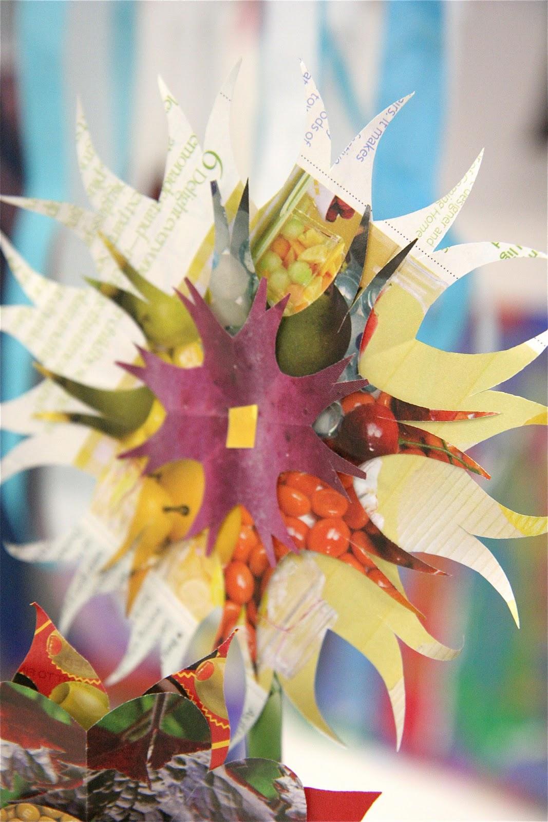 Recycle paper flower boatremyeaton splish splash splatter recycled magazine flowers recycle paper flower mightylinksfo
