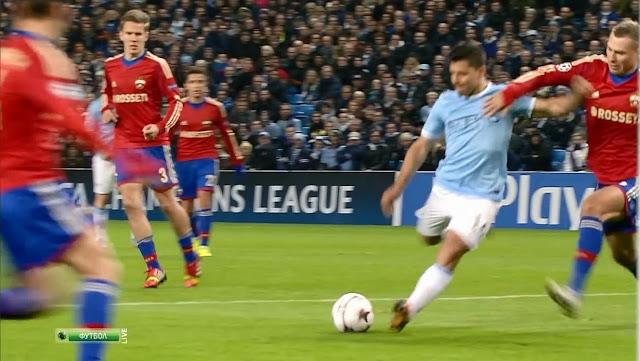 Aguero, Manchester City - CSKA Moscow