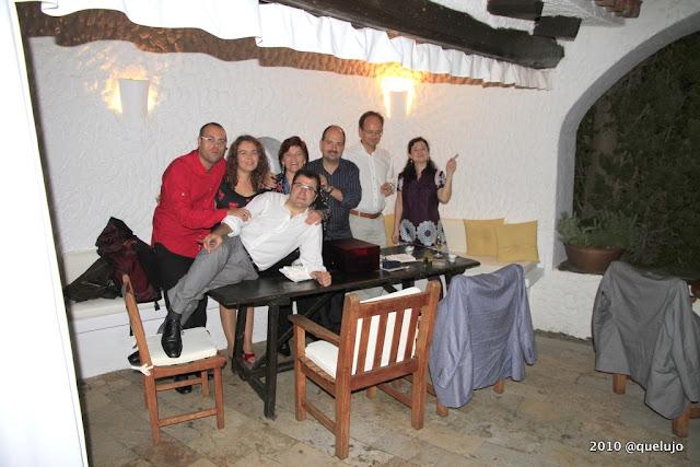 El grupo Tetra en la Terraza de El Bulli disfrutando de la Cena de El Bulli